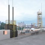 oil refinery plant light