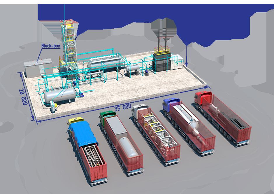 transportation oil refinery unit